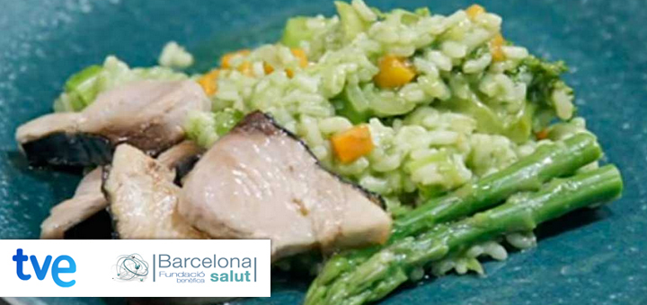 La ciencia de la salud – Risotto de verduras de temporada y bonito