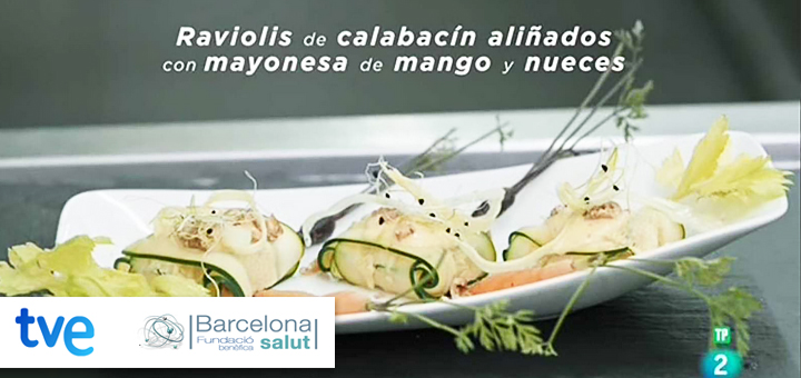 La Ciencia de la Salud – Receta para la salud bucal – Raviolis de calabacín aliñados con mayonesa de mango y nueces