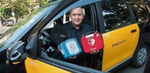 Taxis de Barcelona se dotarán de desfibriladores